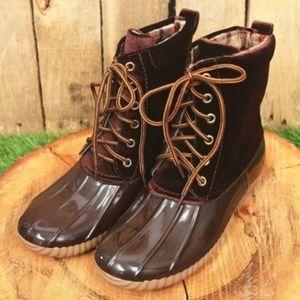 bc05ee32c657 Yoki Brown Velvet Duck Boots (RUNS SMALL)
